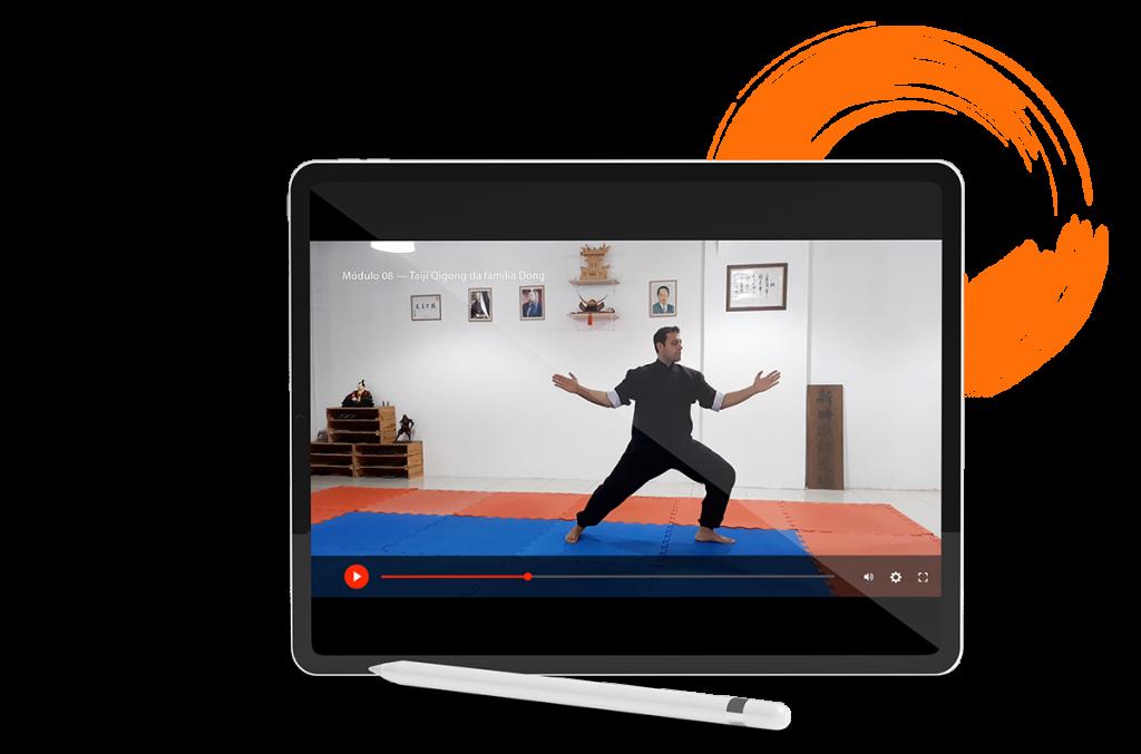 Imagem demonstrando player de vídeo adaptado a dispositivos móveis